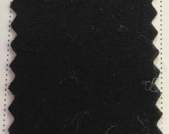 Black Quilter's Homespun 100% Cotton Fabric 1/2m lengths