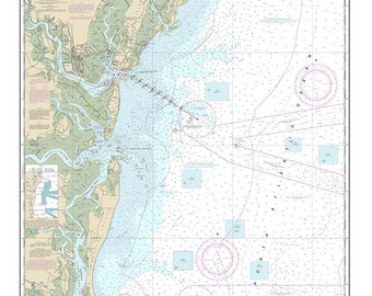 2013 Nautical Map of Doboy Sound to Fernadina and St Marys