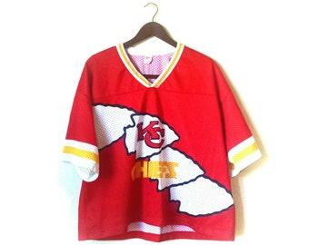 Vintage 1980s Kansas City Chiefs rare football jersey