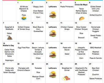 May 2017 Budget Menu Plan | Weekly Grocery List with Recipes | Budget Menu Plan | Monthly Menu | Meal Plan | Mother's Day | Star Wars