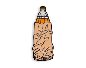 40oz Malt Liquor Enamel Pin