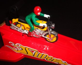 Honda Super Cycle Set Gyro Powered vintage c1970s toy boxed by Playwell made in Hong Kong