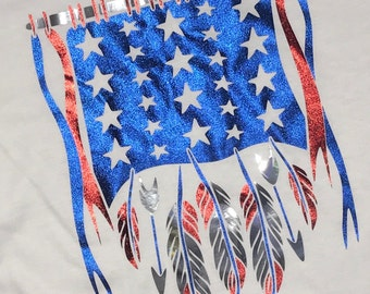 American Flag Soft Shirt with Foil