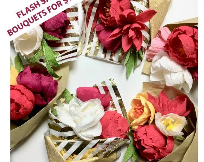 FLASH SALE Paper Flower Bouquet ending Jan 5th