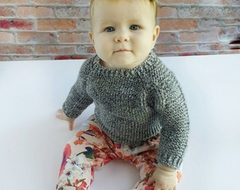 Baby Sweater - Baby Pullover - Handknit - Baby - Toddler - Child - Teen - Adult - Cotton Sweater - Pullover - Mommy and Me - Daddy and Me