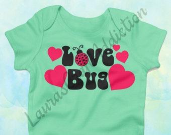 5 Love Bug designs, svg dxf pdf cut file for Silhouette Cricut, Ladybug svg, Lady bug, svg, Valentine svg, Valentine Onesie, Love bug svg