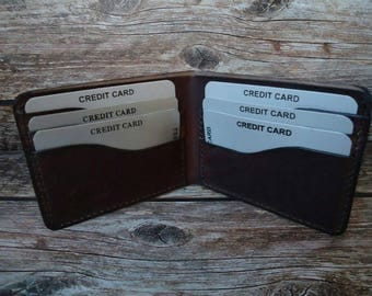 Small leather wallet,front pocket leather wallet,mini leather wallet.Picolo portafoglio in pelle,portacarte in pelle,кошелек.