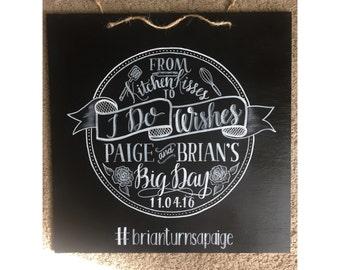 Wedding I Do Wishes Chalkboard Gift