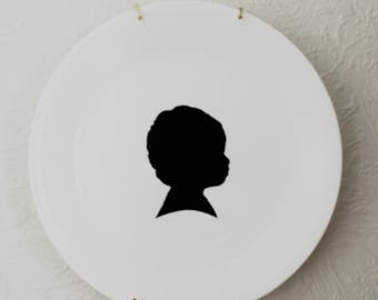 Custom Child or Pet Plate Silhouette