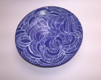 Hand glazed blue bowl