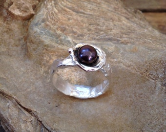 Primitive Water Cast pearl ring