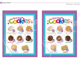 2018 Girl Scout Cookie lanyard - Printable