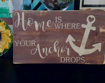 Wooden Home/Anchor Sign