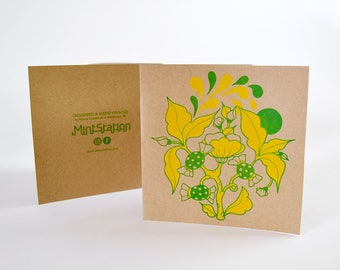 3 Mint Tree- postcards + envelopes