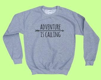 Adventure is Calling - Crewneck Sweatshirt