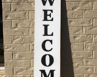Welcome Sign, Wooden Sign, Vintage Sign, Wall Art, Distressed Sign, Home Decor, Hanging Sign, Art, Rustic Sign, Entry