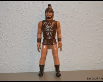 Vintage Roman Action Figure with Helmet and Beard and Mustache.