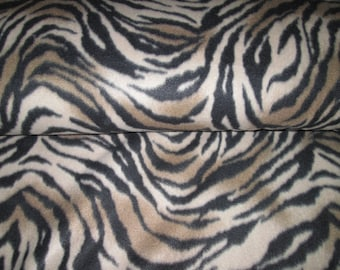 Zebra fabric ideal for cuddly polar fleece, fabric clothing and more