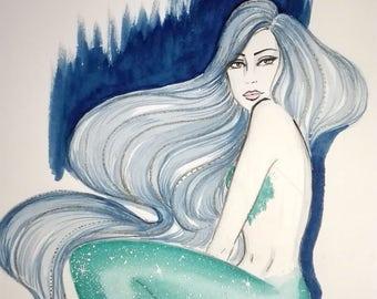 Emerald - Original Watercolor