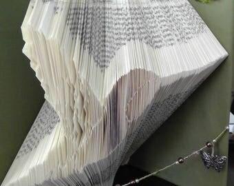 hummingbird book fold pattern,love hummingbirds,book folding pattern,hummingbird art, book art
