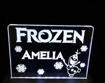 Frozen night light personalised