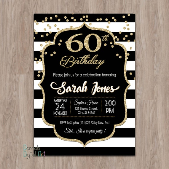 Invitation 60Th Birthday is awesome invitation template