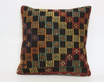 Embroidered Kilim Pillow Ethnic Pillow 20x20 Anatolian Turkish Kilim Pillow Naturel Pillow Chic Pillow Fllor Pillow Boho Pillow SP5050-1553