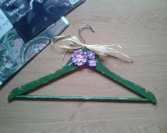 Retro style wooden hanger for clothes
