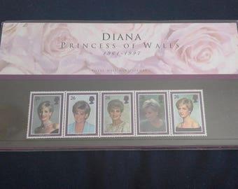 Royal mail stamps Diana princess of wales stamp presentation
