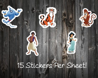 Aladdin and Princess Jasmine Stickers