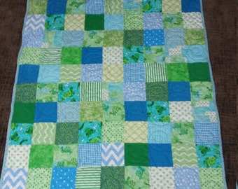 Frogs and Turtles Quilt