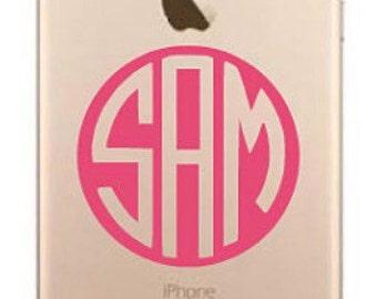 iPhone 6 Plus Decal / iPhone 6 Plus Stickers / iPhone 6 Plus Monogram Stickers / iPhone 6 Plus Monogrammed Stickers / Custom Monograms