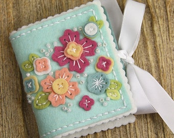 Handmade Needle Book, Felt Needle Book, Wool Felt Needle Book, Felt Sewing Case, Gifts For Her