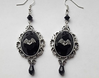 Night Creature Gothic Bat Earrings