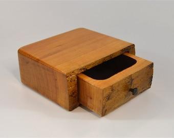 Live edge, cherry small trinket box
