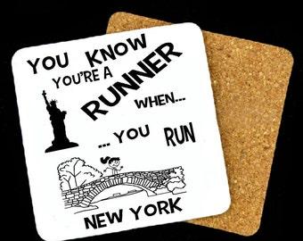 New York Marathon Coaster, Boston Marathon Coaster, Chicago Marathon Coaster, Honolulu Marathon Coaster, NYC Marathon, Running Gift
