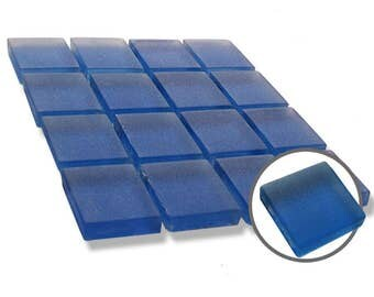 1 inch Blue Frosted Glass Mosaic Tiles