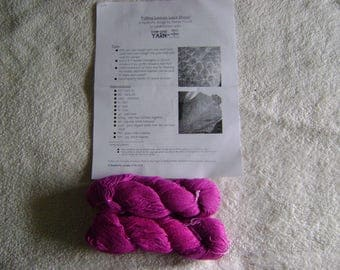 Falling Leaves Lace Shawl Kit with 2 skeins of Silk Cloud Silk Waste Yarn