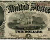 1917 2.00 Legal Tender Thomas Jefferson F60 Fine