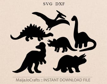 Dinosaurs SVG file Dinosaur svg files for Silhouette Animals svg files for Cricut designs Cricut files Cricut downloads Animal svg Farmhouse