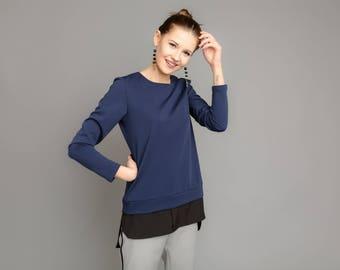 Tunic-Blue tunic-Women outfit-Stylish tunic