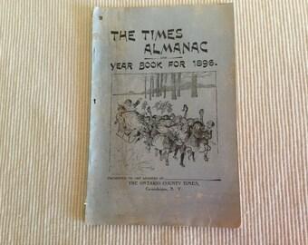 Vintage The Times Almanac Year 1896