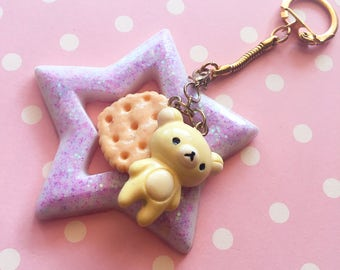 Keychains - White chocolate bear, cookie and Giant star