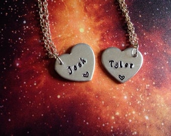 Tyler and Josh Friendship Necklaces