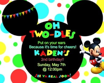 Mickey Mouse Clubhouse Invitation (Digital File)
