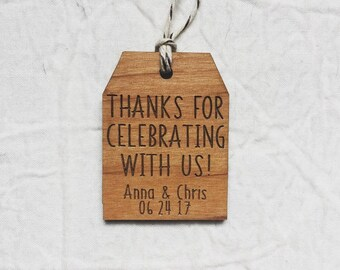 Thank You Wedding Favor Gift Tag Engraved