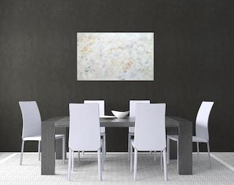 White large art Original abstract  Wall art Painting on canvas Handmade gift Acrylic painting Decorative Art Urban Creative Modern artwork