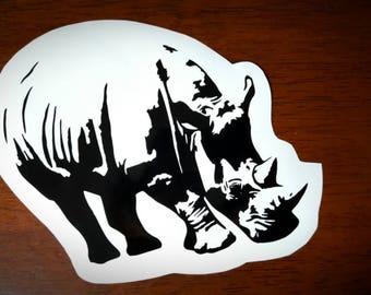 Vinyl Decal - White Rhino