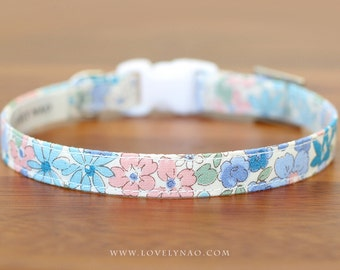 Gentle Flower Cat Collar – Blue
