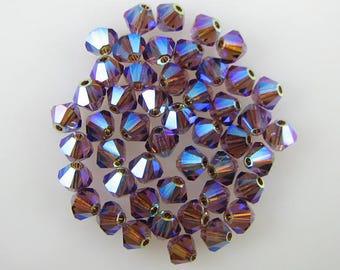 48 4mm Swarovski crystal bicone 5301 ColoradoTopaz AB2X 7790